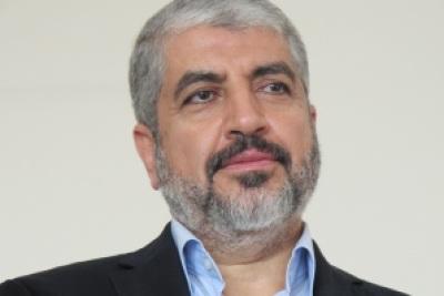 Kepala Biro Politik Hamas Khalid Misyaal saat wawancara khusus dengan Faisal Assegaf dari Hamaslovers di Hotel PNB Darvy Park, Kuala Lumpur, Malaysia, Rabu (4/12). (Hamaslovers/Faisal Assegaf)